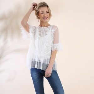 SALE! Ruffle Lace Top
